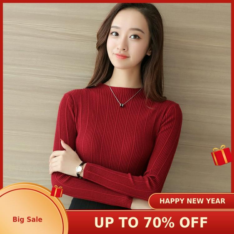 2020 Spring 183220 New All-around Korean Slim Solid Color Knitwear Women's Sweater   2020ys