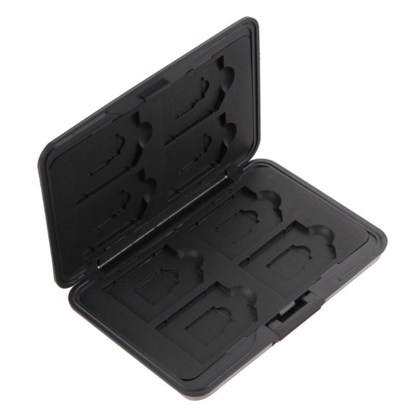 Micro SD SDXC Storage Holder Memory Card Case Protector Aluminum BLACK