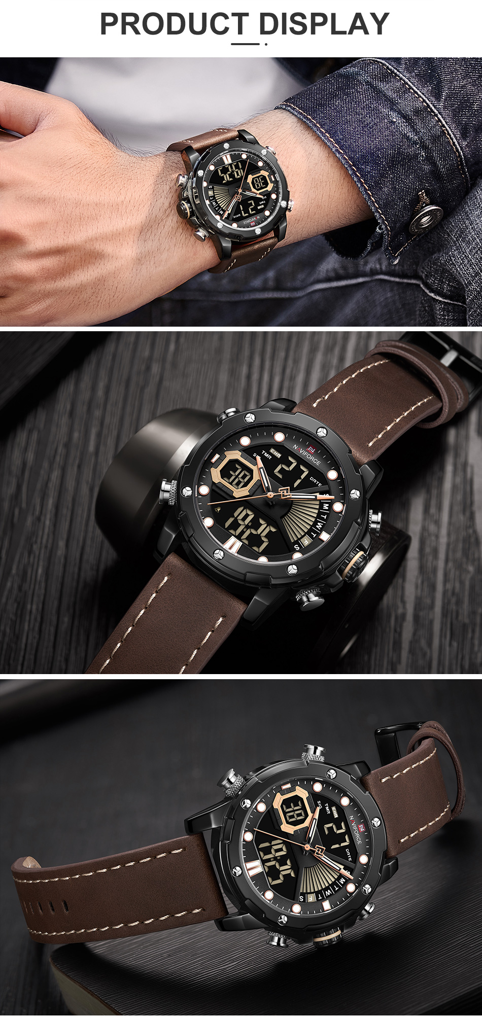 H4af5ef9c285545749dc65cfc493c6de38 NAVIFORCE Men Watch Top Luxury Brand Fashion Sports Wristwatch
