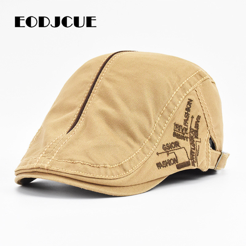 New Summer Letter Embroidery Berets Caps For Men Women Vintage Peaked Caps Outdoor Sun Hats Casquette Cap Peaky Blinders