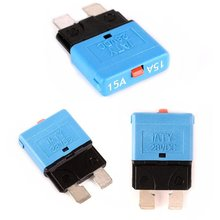 15A Fuse 12v/24v Fits Circuit Breaker Blade Automotive Car Kit Resettable Inline