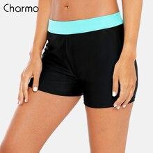 Charmo Women's Solid Color Tankini Bottoms Ladies Swimwear Split Briefs Bikini  Swimwear  Boardshort Swimming Shorts volcom men s lido solid boardshort