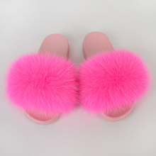 Women Shoes Home Fur Slippers Summer Flip Flops House Furry