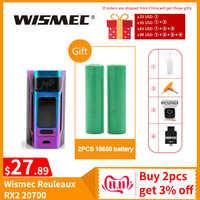 [RU/US] dédouanement Original Wismec Reuleaux RX2 20700 TC boîte Mod sortie 200W VW/TC/TCR Mode 18650 batterie Cigarette électronique