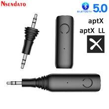 Bluetooth 5.0 musique Audio récepteur APTX LL 3.5mm AUX Jack RCA adaptateur sans fil et micro mains libres appel voiture Bluetooth 5.0 adaptateur