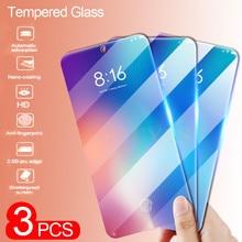 3Pcs Protective Glass For Xiaomi Mi 9 8 SE 8 Lite Temepred Glass on The For Mi 9 9T Pro A2 lite A1 Pocophone F1 MAX 3 2 Glass