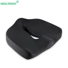 Cojín de silla para alivio del dolor de coxis, almohada para alivio del dolor de coxis, tela de malla de espuma viscoelástica, almohada antideslizante extraíble para sentarse, hemorroides