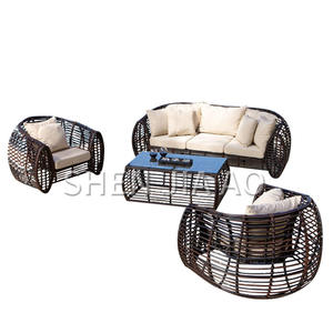 Rattan Sofa Chair Patio Outdoor Coffee-Cane Balcony Reception Cafe Living-Room Leisure
