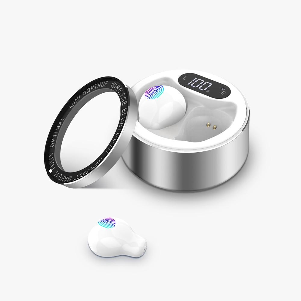 Новая версия мини Bluetooth наушники с сенсорным управлением микрофоном водонепроницаемый беспроводной в ухе наушник для сна для мужчин и женщ...