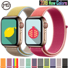 цена на Woven Nylon band strap for apple Series 5 watch band 42mm 44mm 38 mm 40mm sport  nylon bracelet watchband for iwatch 4/3/2/1