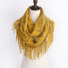 2019 Thickened Infinity Scarf Women Fashion Scarf Warm Soft Winter Scarf Tassel Shawl Scarves For Women Cashmere Bufandas Hombre