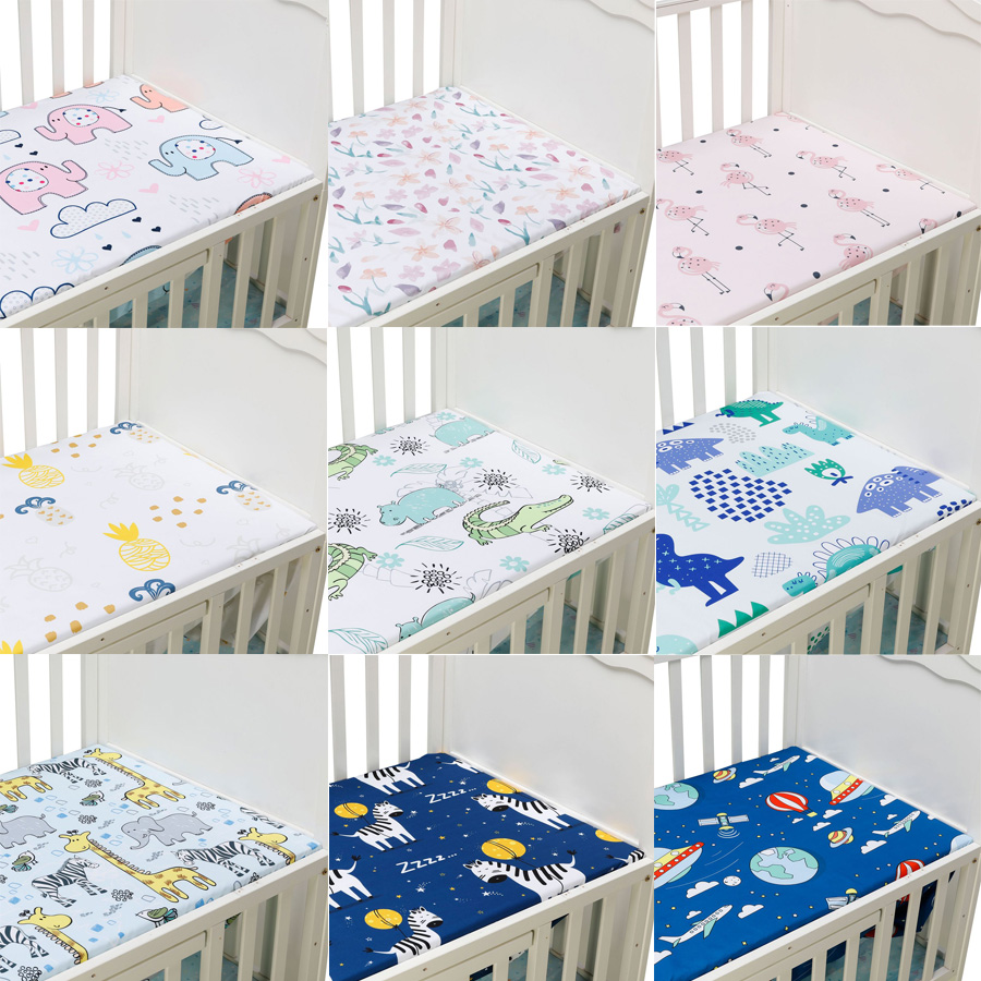 Baby Fitted Sheet For Newborns 100% Microfiber Soft Crib Bed Sheet For Children Mattress Cover Protector 130x70cm
