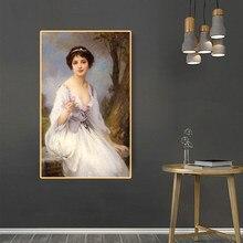 Citon amble Lenoir 《 la rosa 》 lienzo pintura al óleo cartel de ilustraciones de fama mundial imagen moderna Arte de la pared Decoración decoración del hogar