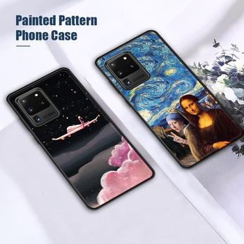 Odporny na wstrząsy etui do Samsung A51 A70 A50 A70 A40 A41 A30 A31 luksusowe malowane etui do Samsung S20 FE S10 Plus M21 M31 miękka okładka tanie i dobre opinie vacusg Cartoon Anti-knock Odporna na brud CN (pochodzenie) Pół-owinięte Przypadku Protective Phone Case for Samsung A51