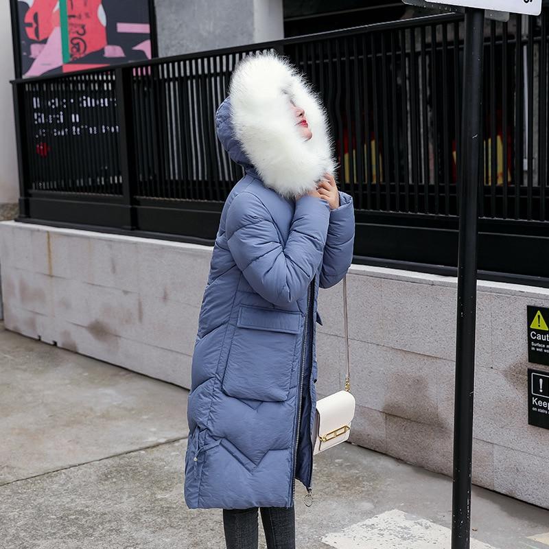 X-Long Slim Womens Winter Jackets Coats 2019 New Cotton Padded Thicken Jacket Ladies Fur Collar Coats Parka Womens Jackets