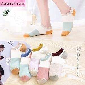 Image 2 - 7 pares seamle Mulheres meias Primavera novo estilo meias Barco meias finas No Tornozelo Confortável Meias mulheres meias Engraçadas kawaiisock para mulheres
