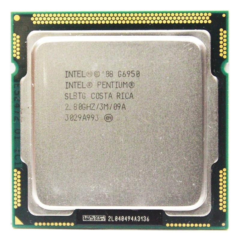 Original Intel Pentium Dual-Core G6950 Processor 2.8GHz 3MB Cache LGA1156 73W Desktop CPU