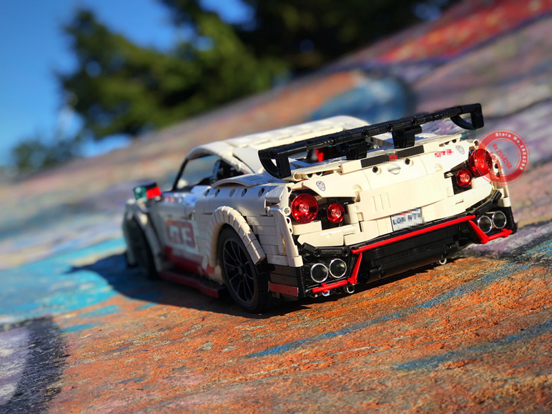 2019 New MOC Nissan Racing Car Motor Power Functions Fit Legoings Technic Gtr MOC 25326 Building Blocks Bricks Toys Kid Gift