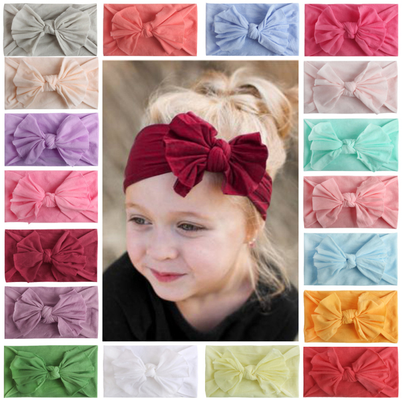 Newborn Kids Hairbands Baby Girl Turban Head Bows For Baby Girls Infant Headbands Baby Head Wraps For Babies Hair Accessories