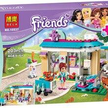Ветеринарная клиника, 203 шт., набор для друзей, Эмма Стефани Мия, Оливия, Andrea, строительные блоки, игрушки для девочек, совместимы с Legoinglys