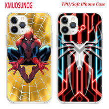 Silicone TPU Cover for iPhone 11 11Pro XS MAX XR X Spider Man Homecoming for iPhone 8 7 6S 6 Plus 5S Phone Case(China)