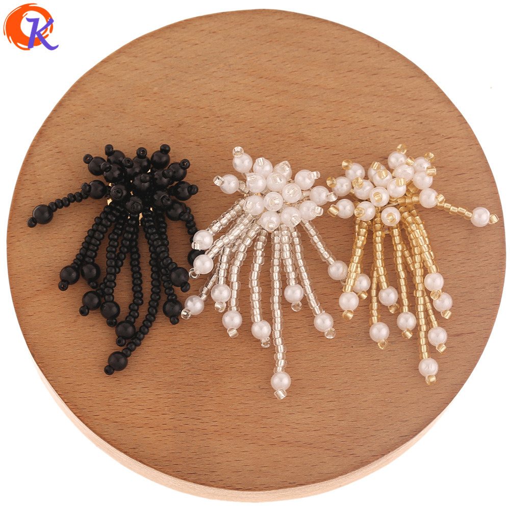 Cordial Design 30Pcs 20*45MM Jewelry Accessories/Hand Made/Imitation Pearl/DIY Jewelry Making/Earring Findings/Seed Bead Charms