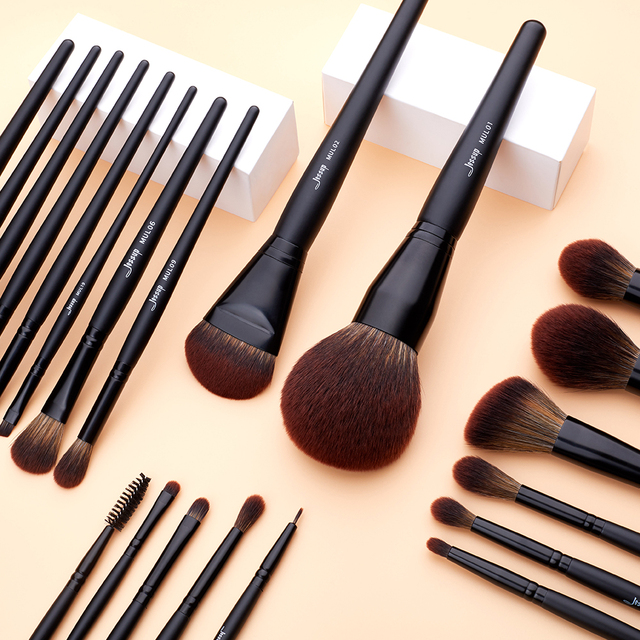 Jessup Makeup brushes brushes Phantom Black 3-21pcs Foundation brush Powder Concealer Eyeshadow Synthetic hair 1