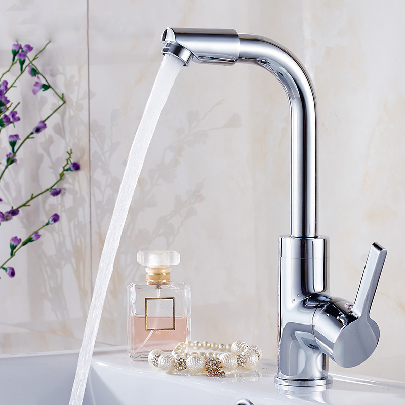 Kitchen Copper Mixing Faucet Hot And Cold Basin Faucet Rotating Ware Manufacturers Tap Wholesale