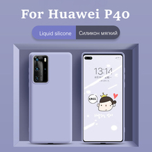 For Huawei P40 Pro Case For Huawei P40 Pro Cover Liquid Silicone Soft Rubber Back Protector Fundas Phone Case For Huawei P40 Pro for huawei p40 pro case liquid silicone soft rubber back protector fundas for huawei p40 pro cover phone case for huawei p40 pro