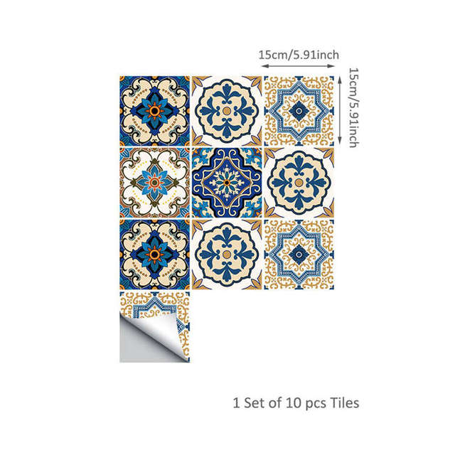 Moroccan Style Tile Stickers 10pc 2