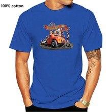 Sıcak çubuk 58 kırmızı Kap garaj çalışma gömlek Vintage amerikan V8 Drag yarış araba kıyafet Tee gömlek