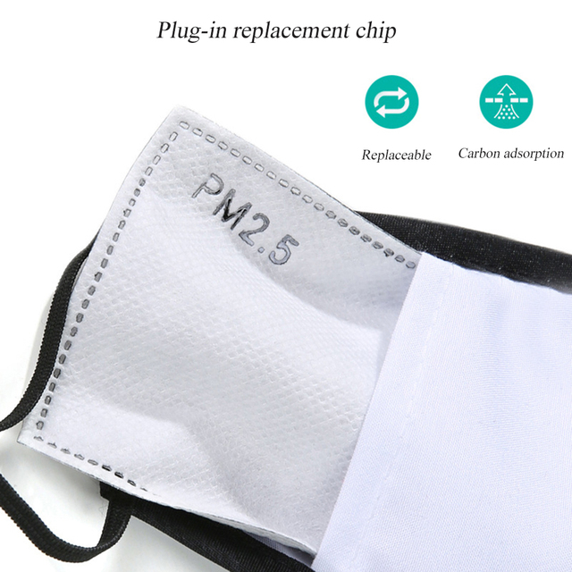 Cycling face mask with filter pm2.
