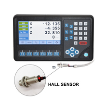 Dro 2 Axis/3 Assige Digitale Uitlezing, DB9 Ttl Siganl Digitale Display Rpm Functie Met Hall Sensor