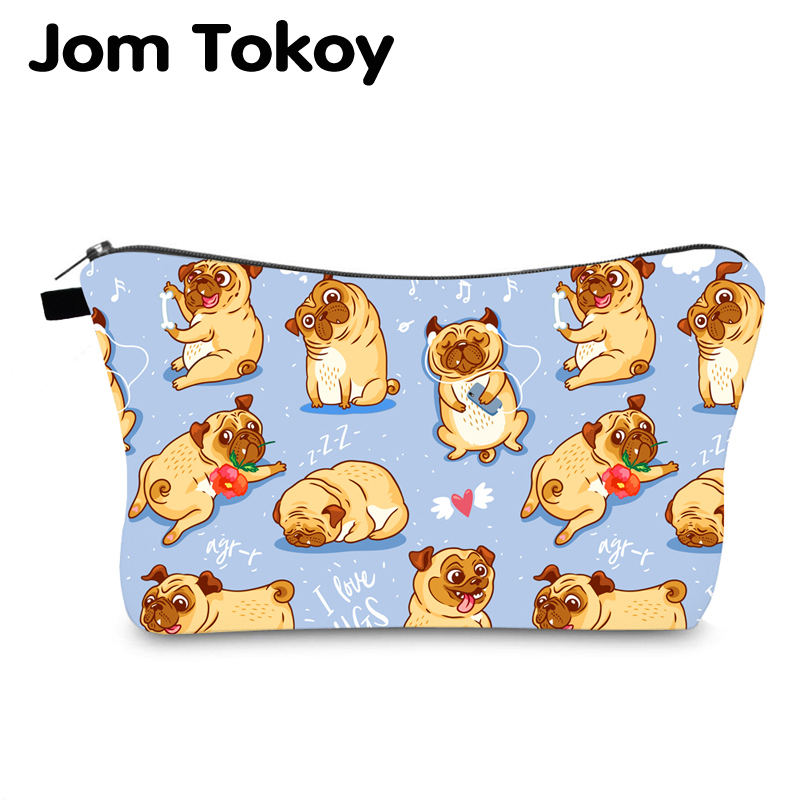 Jom Tokoy Cosmetic Bag Printing Dogs Personalised Makeup Bags Organizer Bag Women Beauty Bag Hzb1003