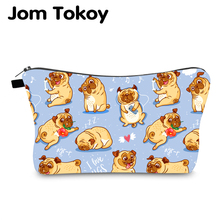 Jom Tokoy Cosmetic Bag Printing Dogs Personalised Makeup Bags Organizer Women Beauty hzb1003