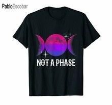 Мужская хлопчатобумажная футболка летний топ, Т-образный черный не фазу бисексуальный флаг рубашка Радужный Флаг ЛГБТ гей гордость Луна по...