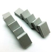 50 шт мини пилка для ногтей квадратная Губка буфера двусторонняя