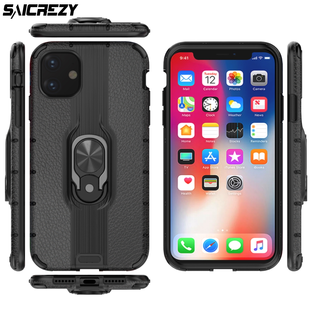 Galleria fotografica Luxury Matte PC Silcone Business Case Coque For iPhone 11 2019 Cases For iPhone 11 Pro Max New Stand Phone Cover for 11 Pro