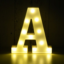 LED Letter Lights Sign Light Up Alphabet Letters for Wedding Birthday Party Festival Valentine's Day Christmas Home Decoration