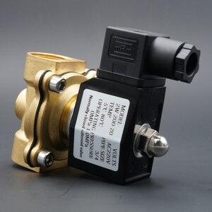 """Image 5 - סולנואיד valve מים בדרך כלל קרוב פליז שסתומים 220V12V24V אוויר מים גז סולנואיד שסתום 1/4 """"3/8"""" 1/2 """"3/4"""" 1 """"2"""""""