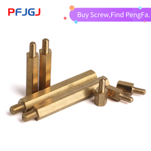 Peng Fa Copper Column M3 M4 Single Head Hexagonal Copper Column Screw Hexagonal Isolation Column Main Plate Screw