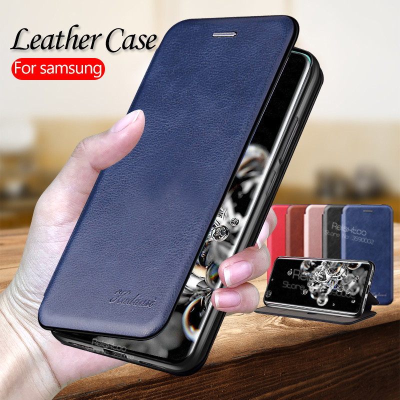 Leather Flip book Case For samsung Galaxy S20 Ultra 5G s10 plus note 10 a51 a71 a10 a20 a30 a40 a50 a70 a10s a20s a30s a50s a70s