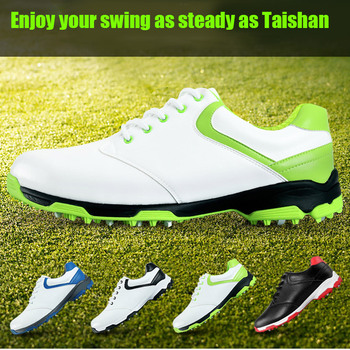 New Waterproof Breathable Outdoor Sports Men Shoes Anti-Skid Light Good Grip Leather Golf Shoes  XD88
