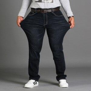 Image 3 - Spring season loose big size pants pants black plus size XL stretch jeans mens summer thin section 48 46 44 42 40 38