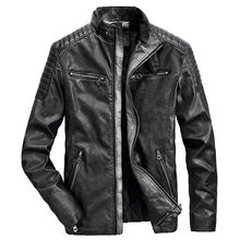 Jacket Outwear Motor Coat Men Vintage Autumn Winter Casual New Warm Thick TFU Zipper