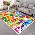 Постельные принадлежности  ковер с алфавитом в виде животных для детской комнаты  развивающий мультяшный детский игровой коврик  забавный ...