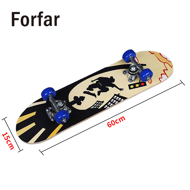 3 Style Deck Skateboard Longboard  Skateboard Single Warping Slide Wood Board Longboard Ular Fashionable For Children Teenagers