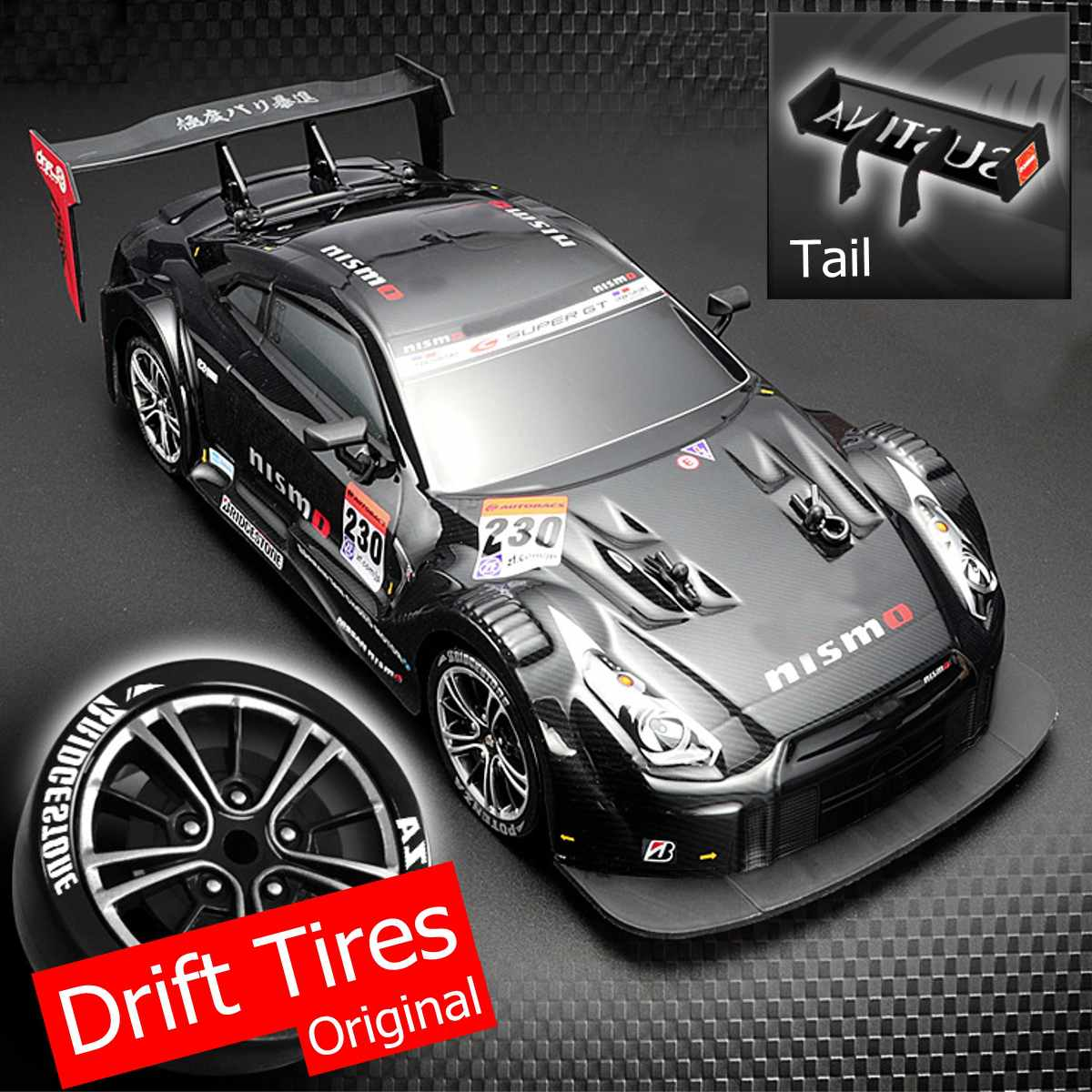 1:16 58km/h RC Drift Racing Car 4WD 2.4G High Speed GTR Remote Control Max 30m Control Distance Electronic Hobby Toys