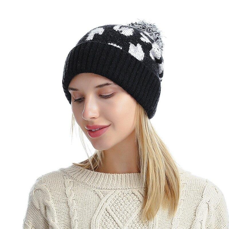 Купить зимняя женская шапка толстые теплые модные шапки для девочек