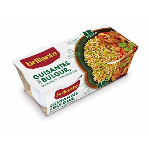 Brillante Guisantes Con Bulgur Quinoa Y Zanahorias 2 X 125 Gr